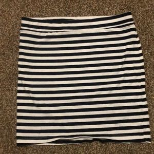 Black and white strip skirt